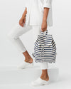 Baggu: Canvas Drawstring Backpack - Sailor Stripe