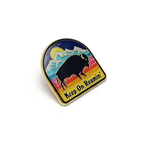 Lucky Horse Press: Bison Enamel Pin