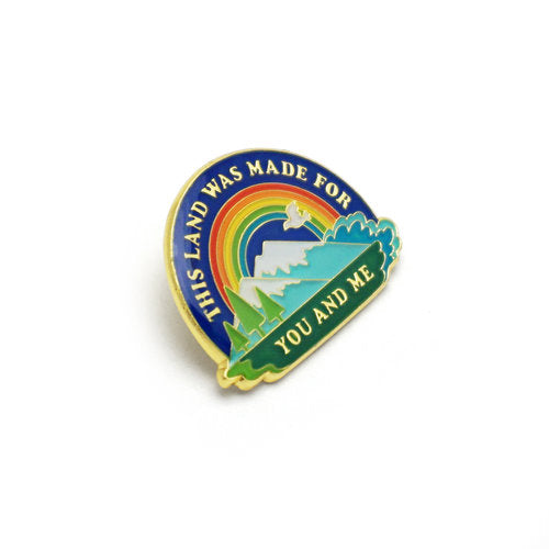 Lucky Horse Press: This Land Is Your Land Enamel Pin
