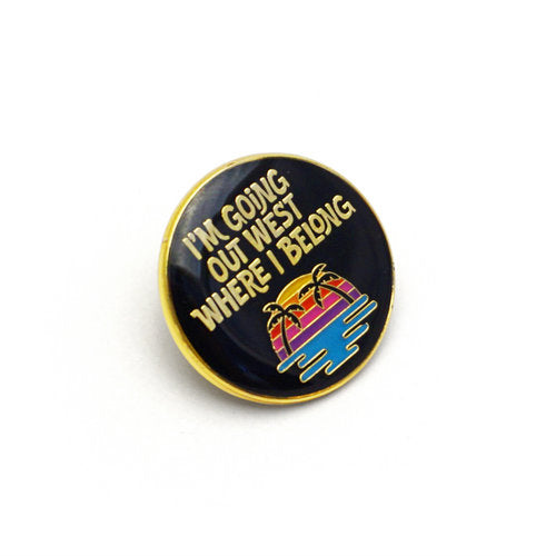 Lucky Horse Press: California Sun Enamel Pin
