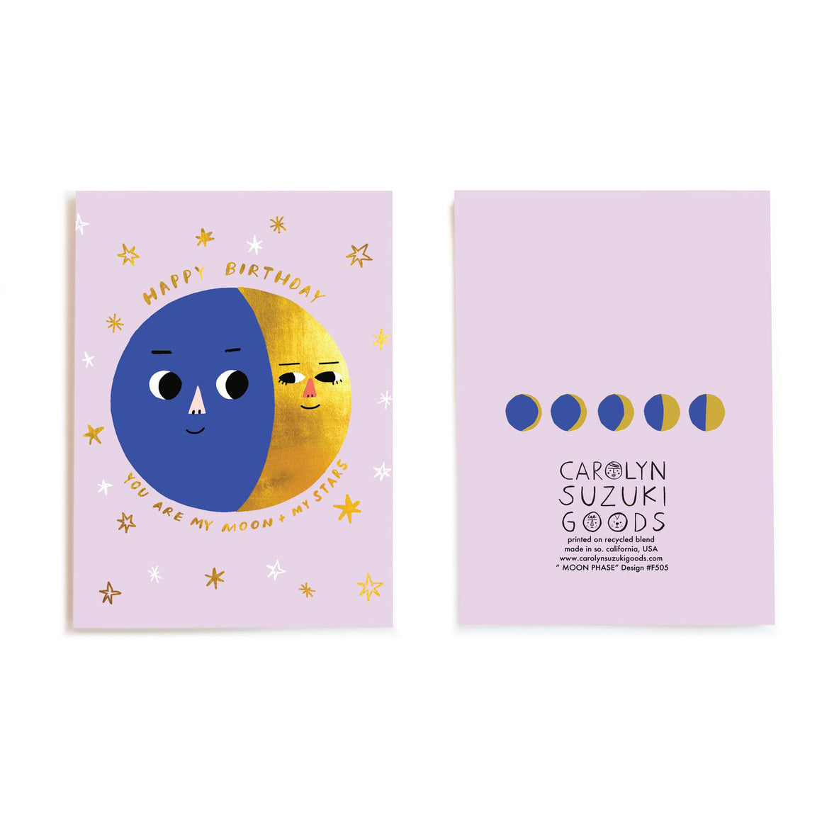 Carolyn Suzuki Goods: Moon Phases - Foil