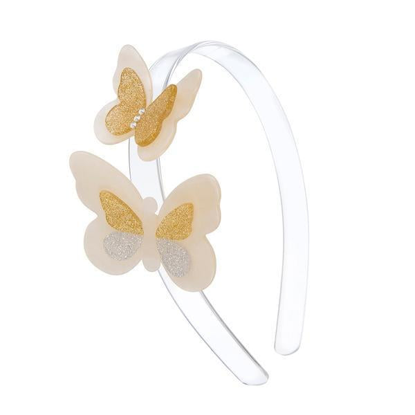 Lilies & Roses: Headband, Double Butterfly