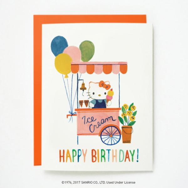 Quill & Fox: Hello Kitty Ice Cream Card