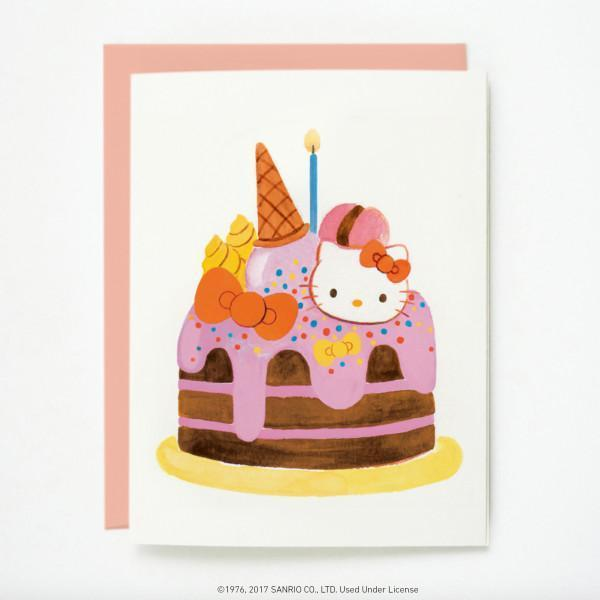 Quill & Fox: Hello Kitty Cake Card