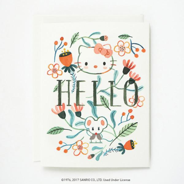 Quill & Fox: Hello Kitty Floral Boxed Cards, Set of 8