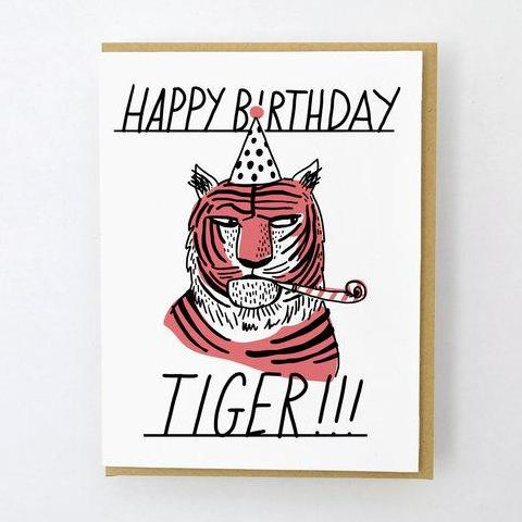 Hello Lucky: Tiger Side Eye Card