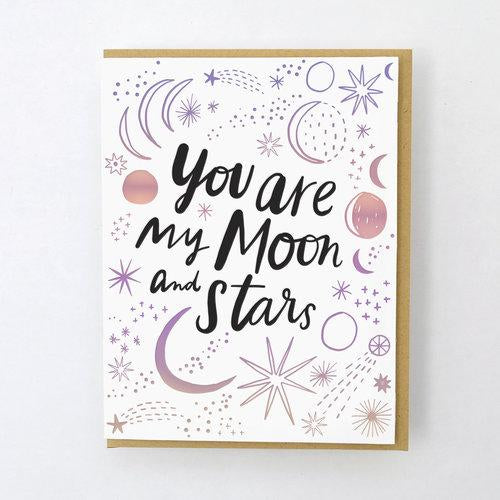 Hello Lucky: Moon and Stars Card