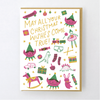 Hello Lucky: Christmas Wishes Card