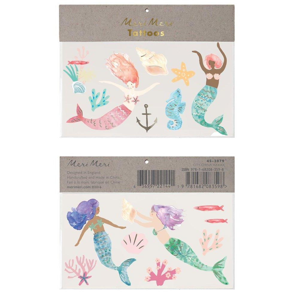 Meri Meri: Mermaid Large Tattoos