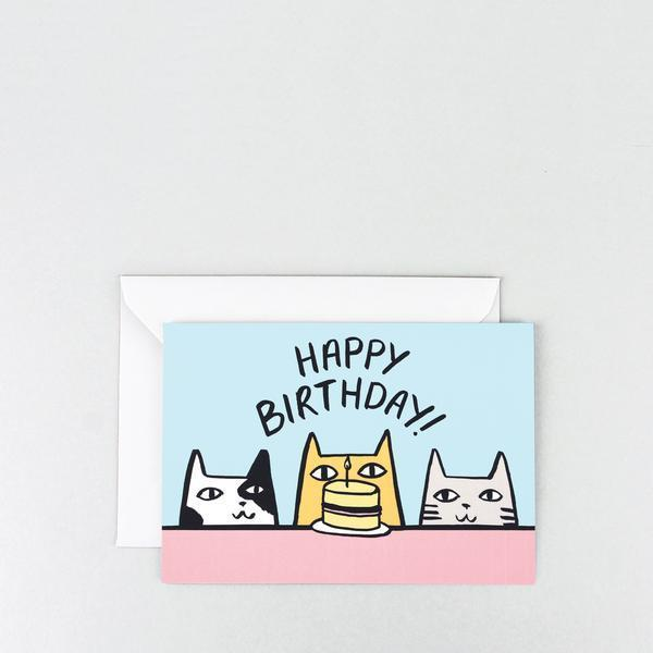 Wrap: Happy Birthday Cats Greetings Card