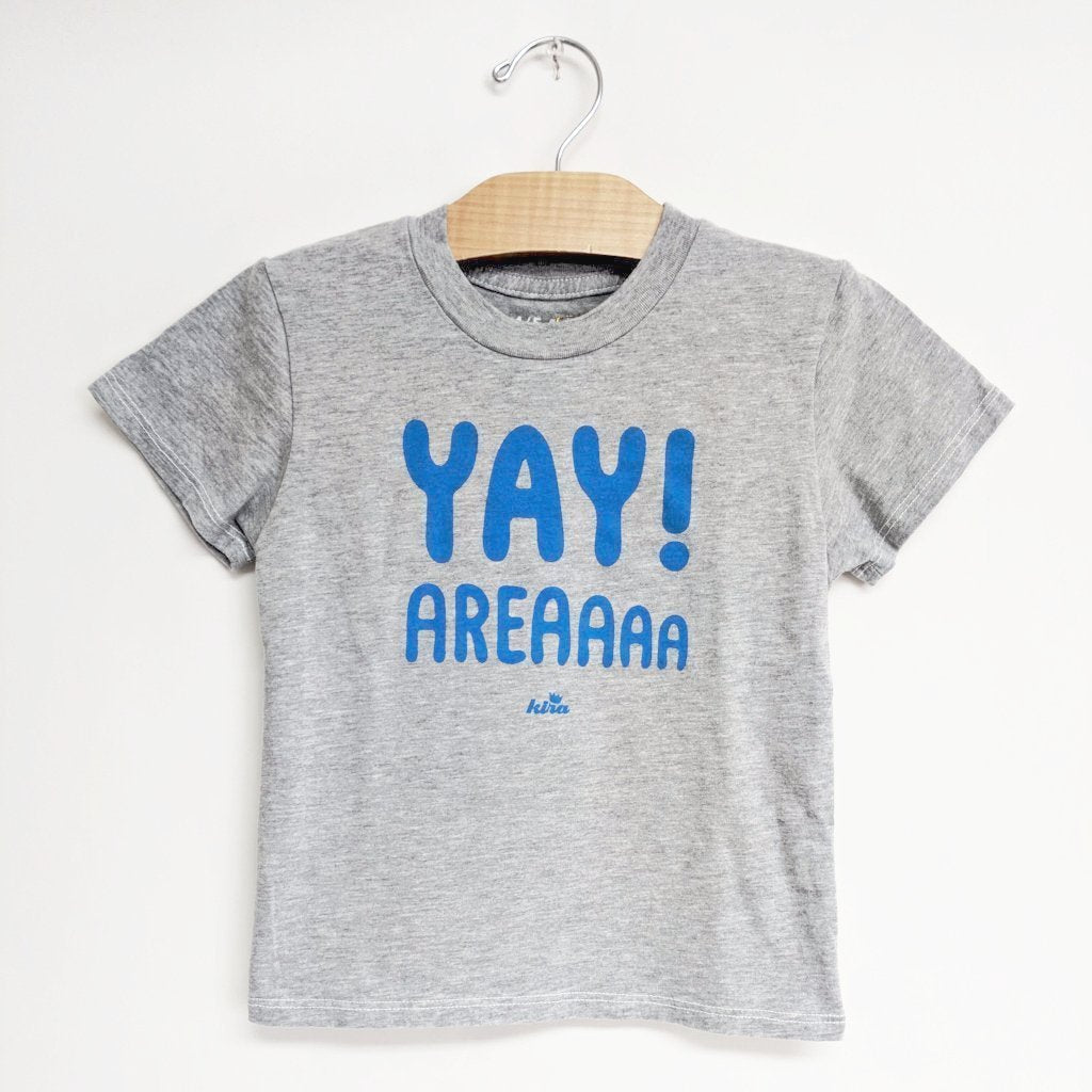 Yay Area Graphic T-shirt, Light Grey w/Blue