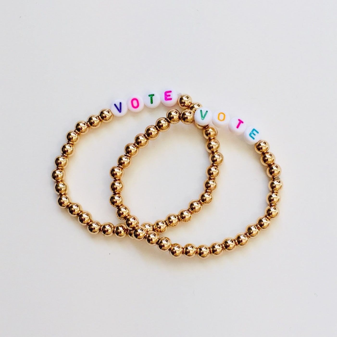 Vote Golden Friendship Bracelets, set of 2