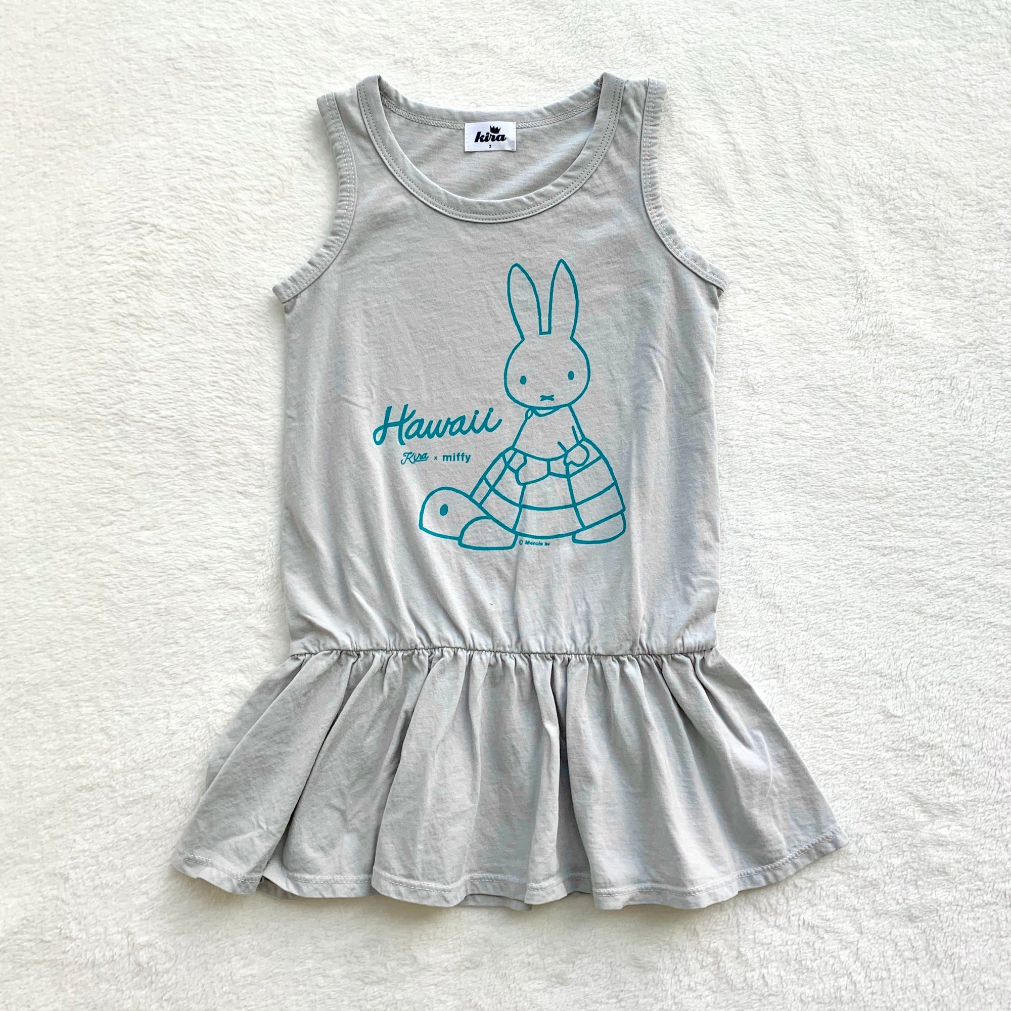 Miffy Honu Tank Ruffle Dress, Light Grey