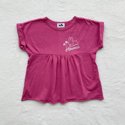 Miffy Palm Trees Boxy Top, Rose Pink