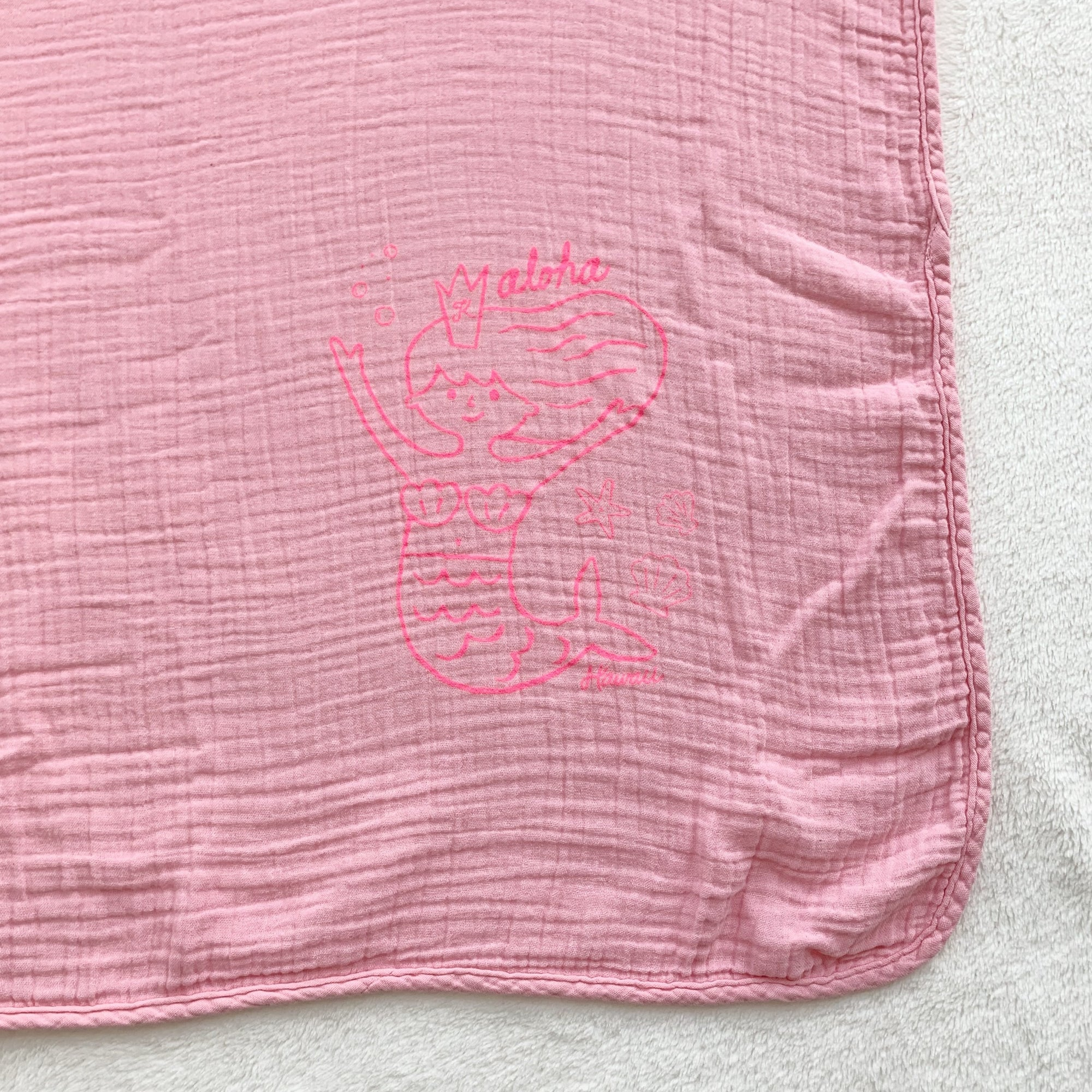 "Aloha Mermaid Swaddle Blanket 47"" x 47"", Sweetheart"