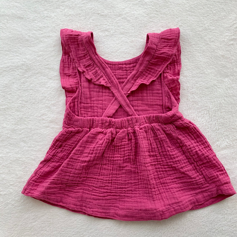 Hawaii Heart Pinafore, Rose Pink