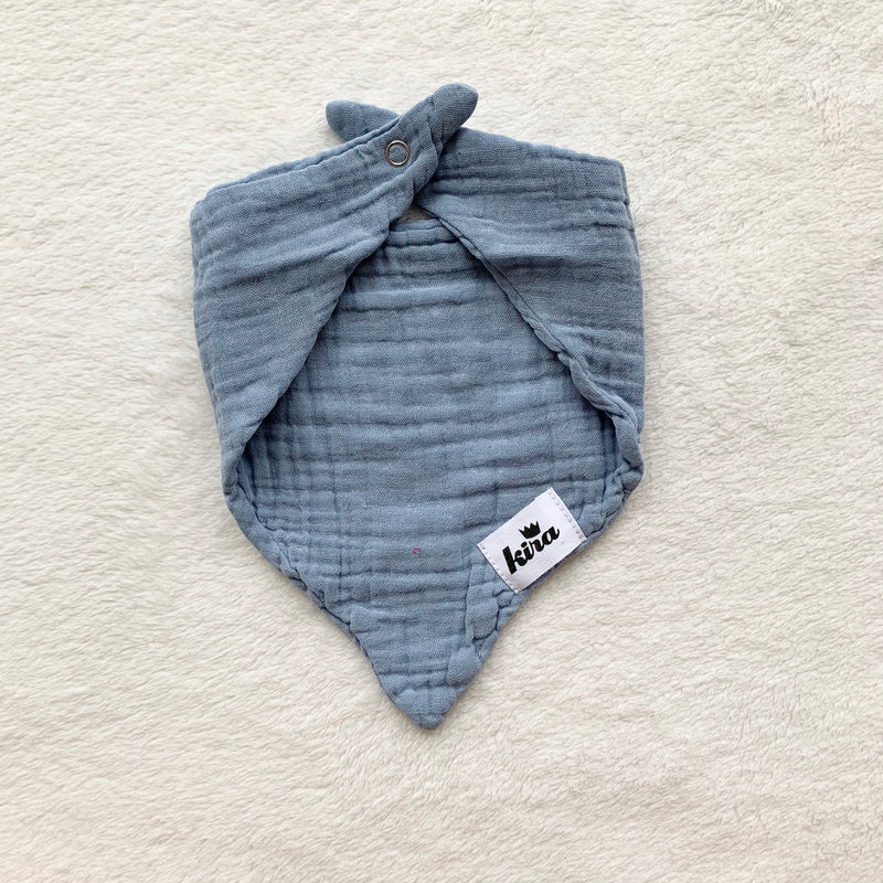 Hawaii Heart Bandana Bib, Stone Blue