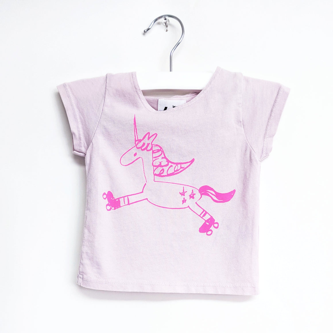 Unicorn Graphic T-shirt, Light Pink
