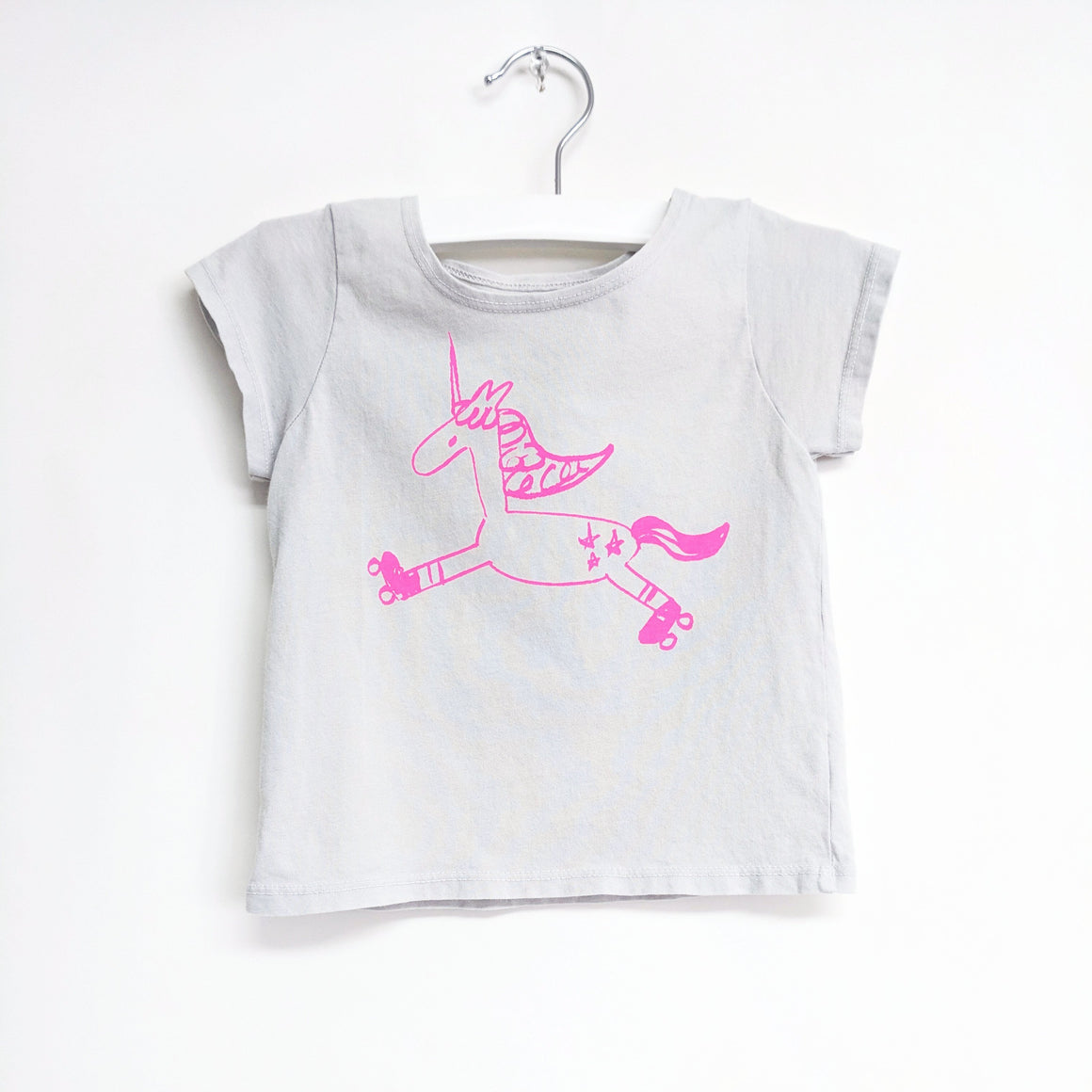 Unicorn Graphic T-shirt, Light Grey