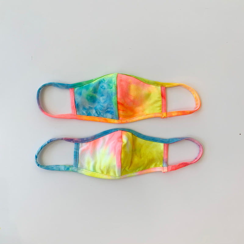 Kids (3-6yrs) Masks, Neon Tie Dye II, 2 pack