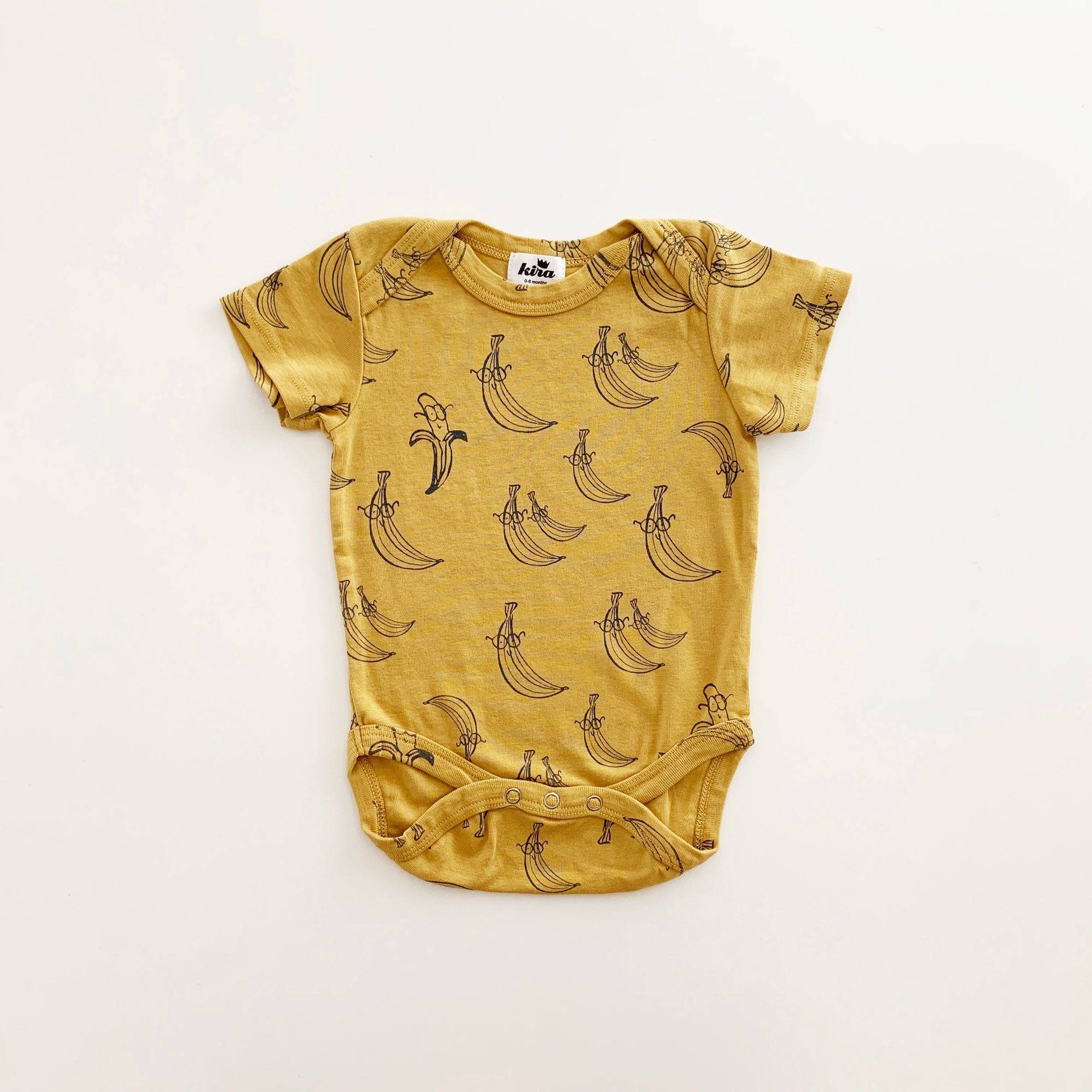 Banana Print Onesie, Golden