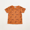 Sloth Print Short Sleeve T-shirt, Copper