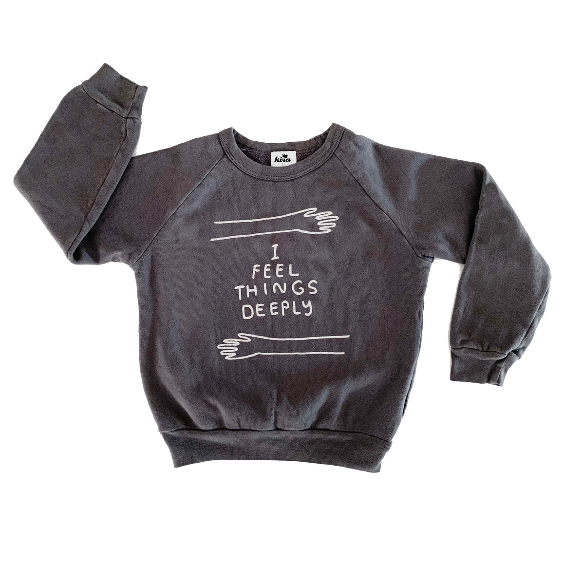 I Feel Things Deeply Raglan Sweatshirt | Kids