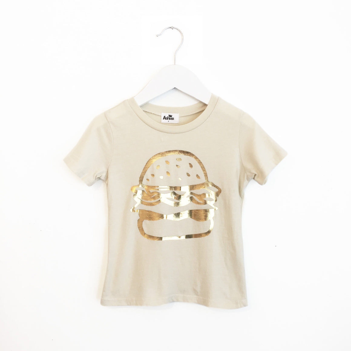 Burger Graphic T-shirt, Natural