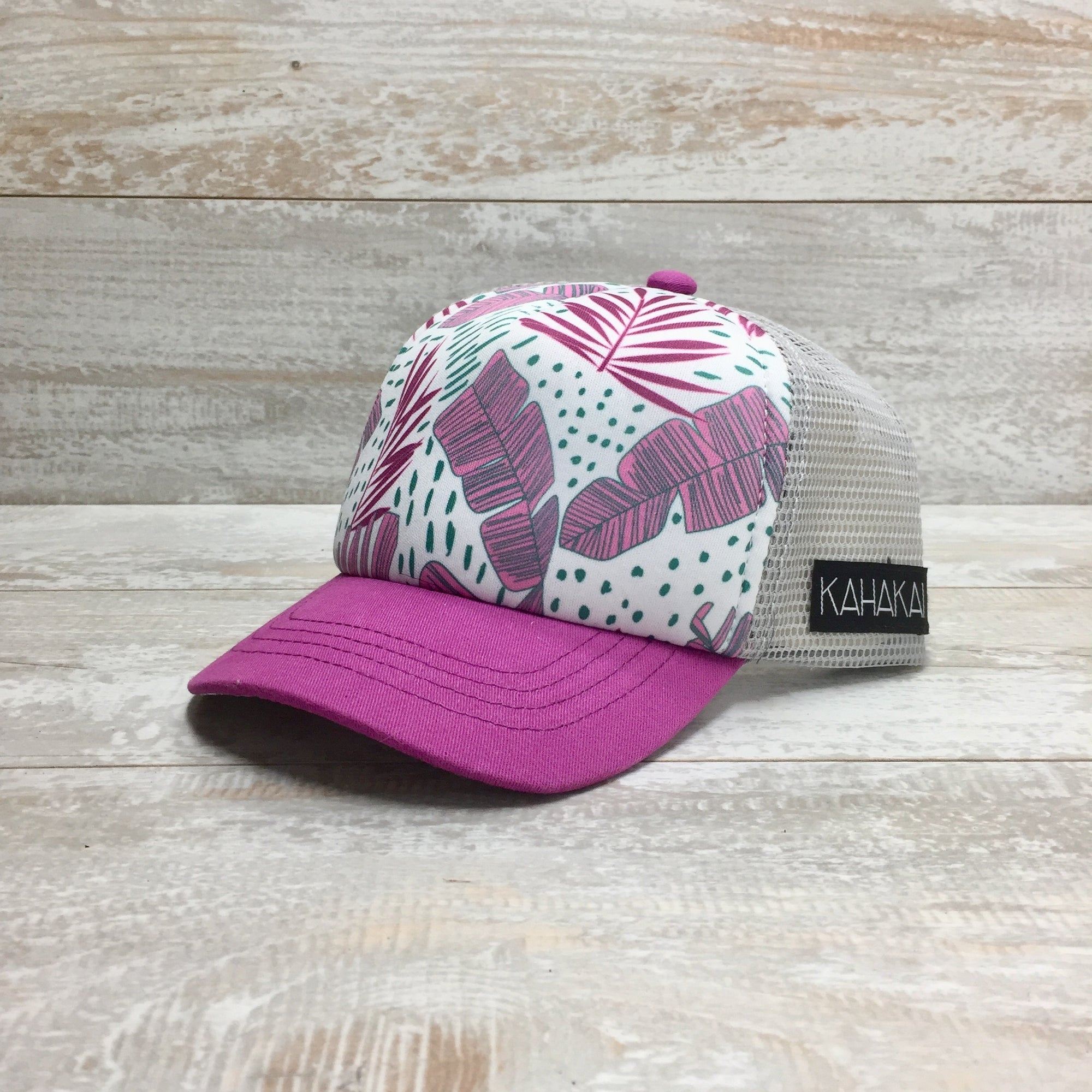 Kahakai Kids: Pink Banana Leaves Hat