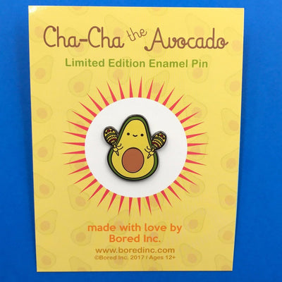 Bored Inc: Cha Cha the Avocado Enamel Pin