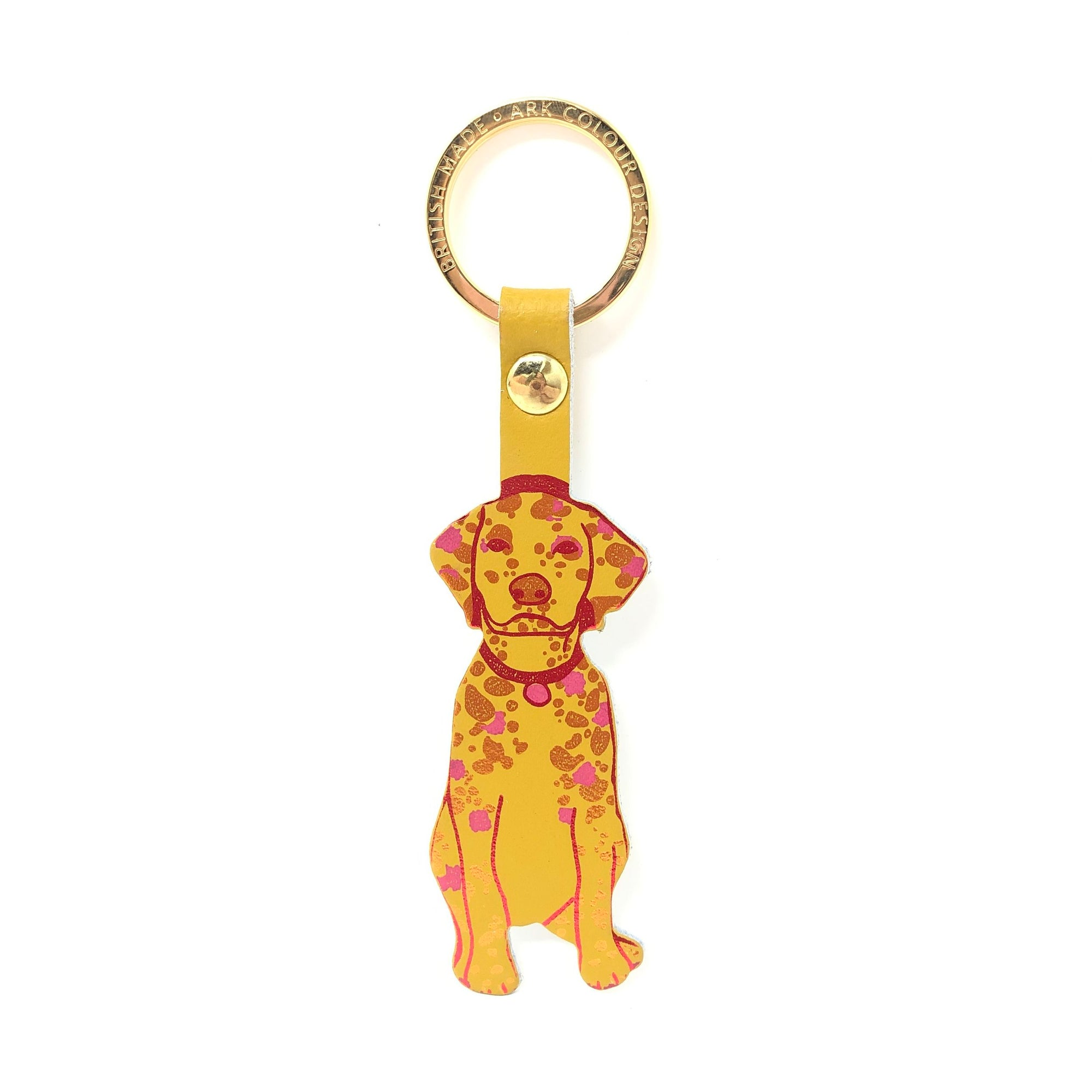 Ark Colour Design: Woof Key Fob, Yellow