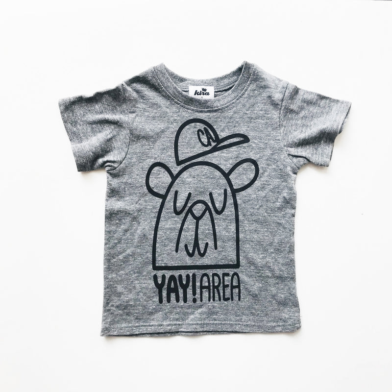 Yay Area Bear T-shirt, Dark Heather Grey