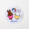 Miffy and Melanie Hawaii Sticker