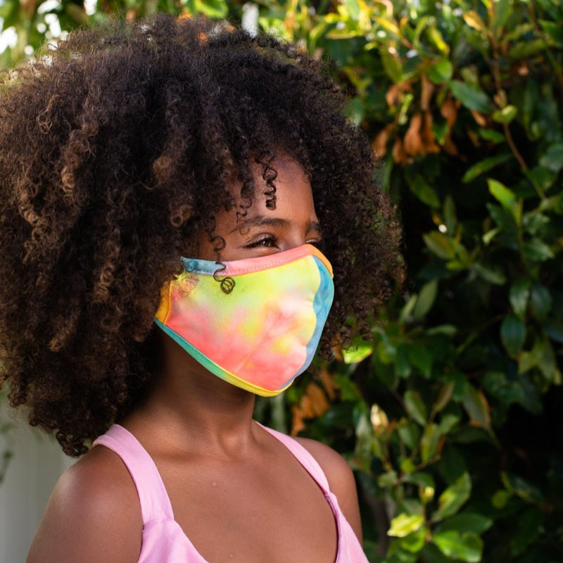 Kids Masks, Neon Tie Dye II, 6 pack