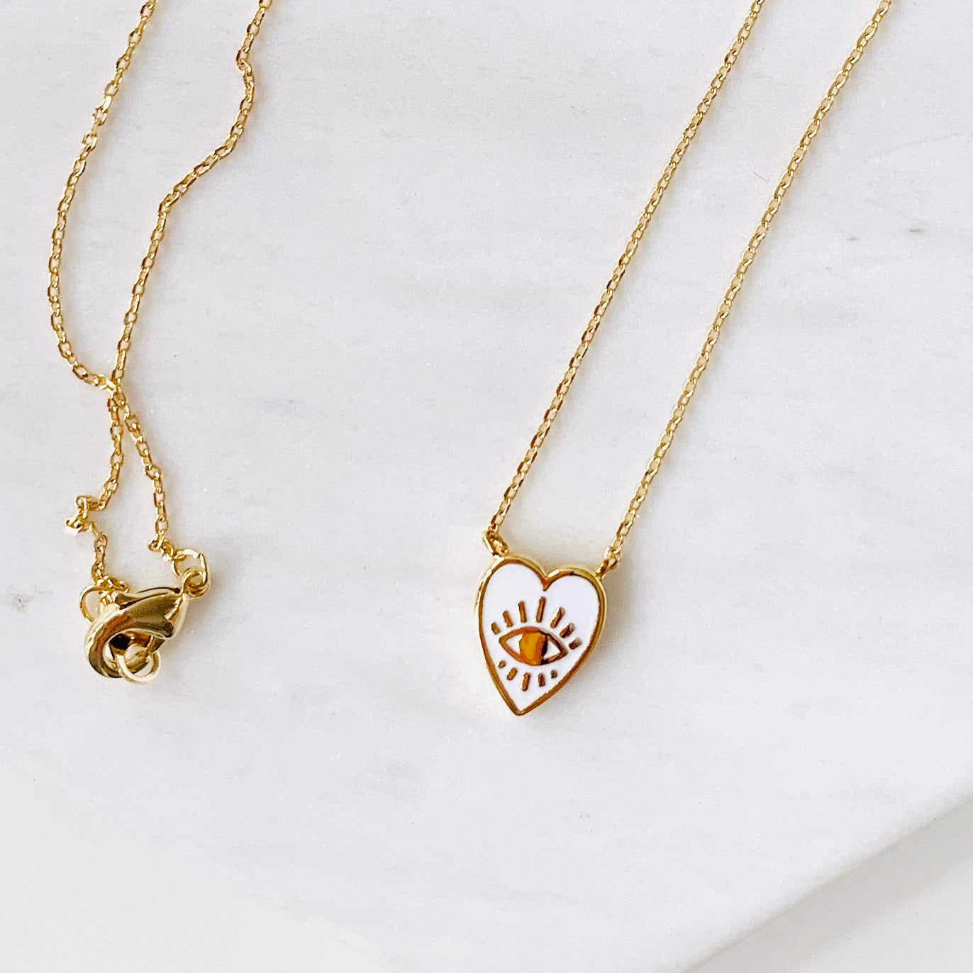 Heart Eyes Charm Necklace