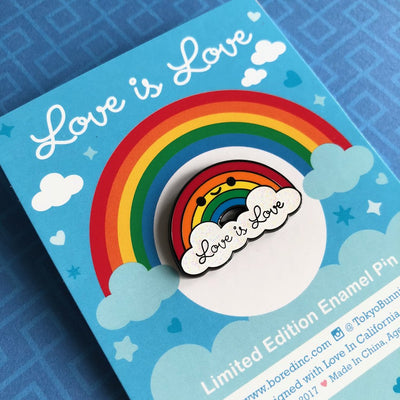 Bored Inc: Love is Love Rainbow Pin