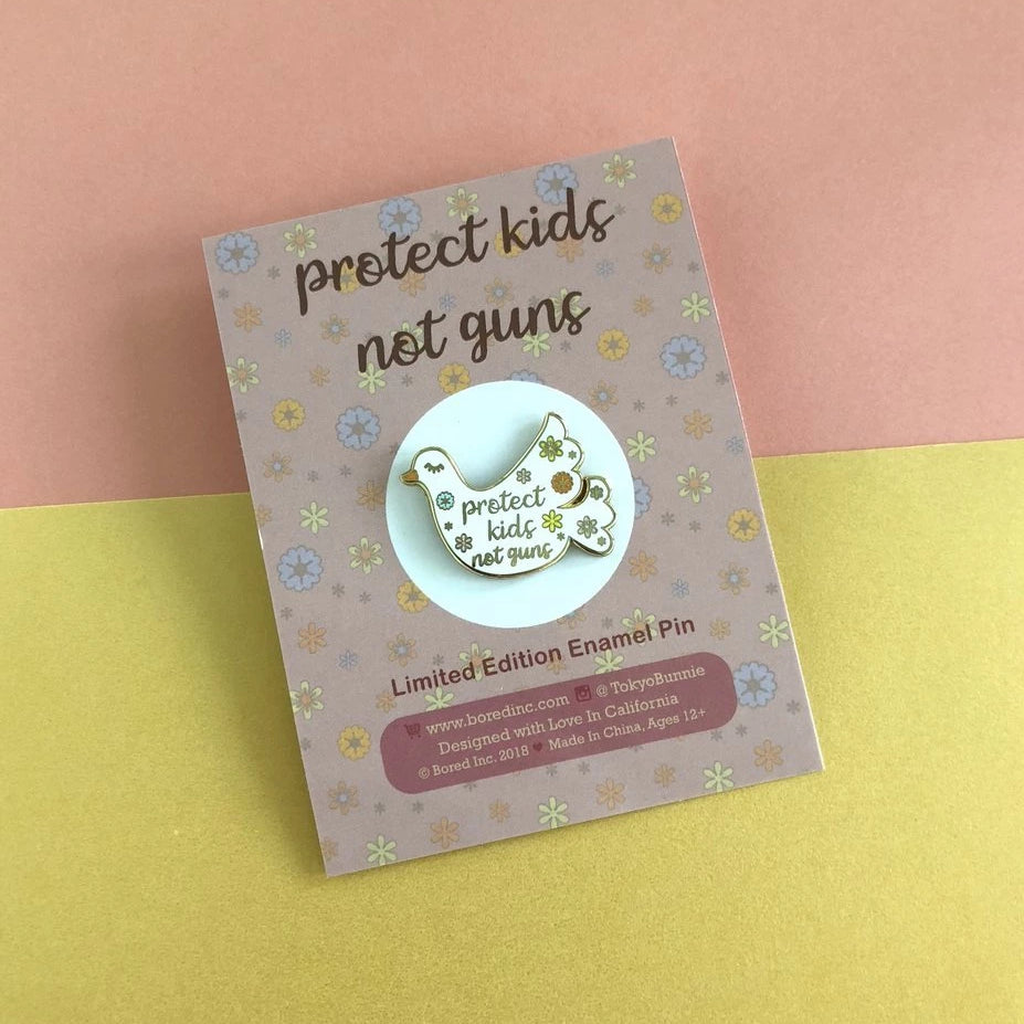 852c72f3cd9a Bored Inc  Protect Kids Pin - Kira