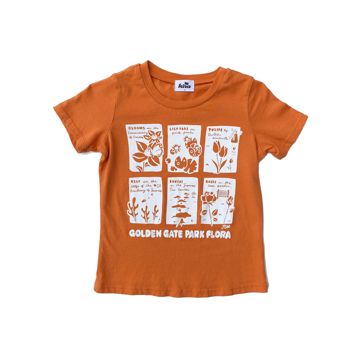 Golden Gate Park Flora Graphic T-shirt, Copper