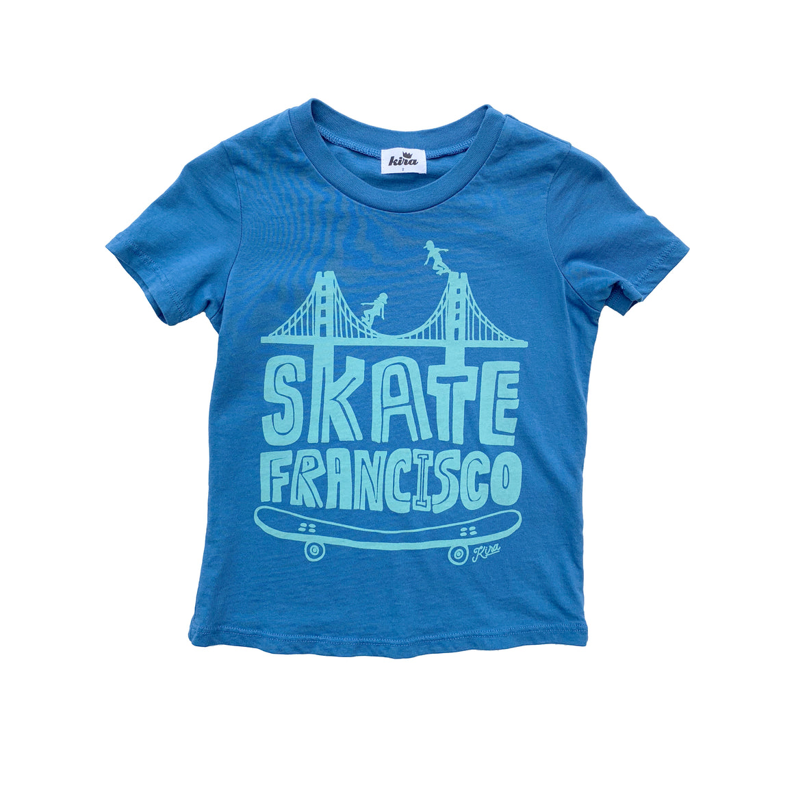 Skate Francisco Graphic T-shirt, Steel Blue