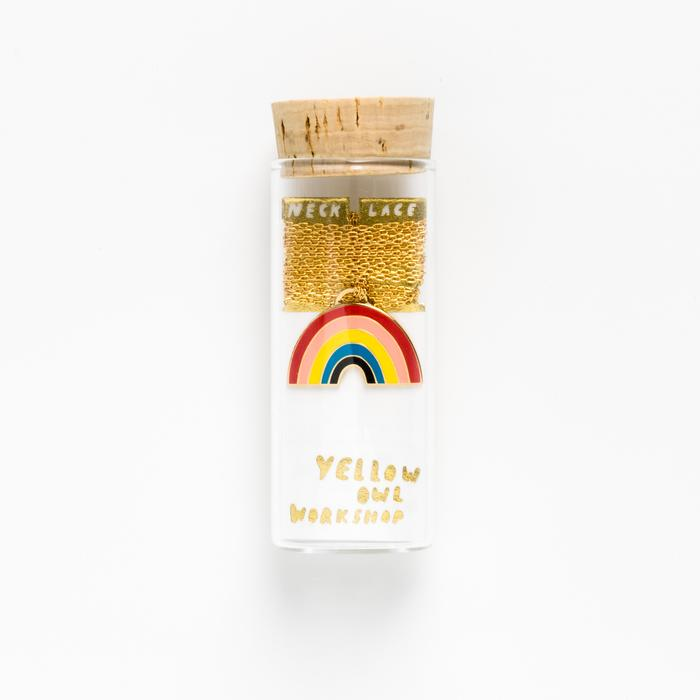 Yellow Owl Workshop: Rainbow Pendant