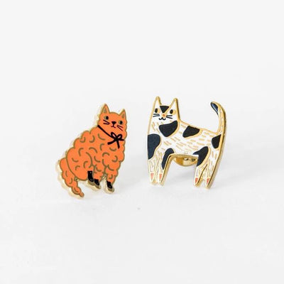 Yellow Owl Workshop: Cats Earrings