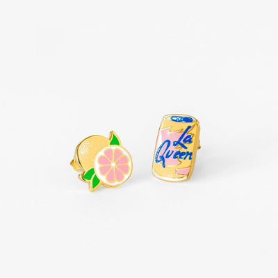 Yellow Owl Workshop: La Queen and Grapefruit Earrings