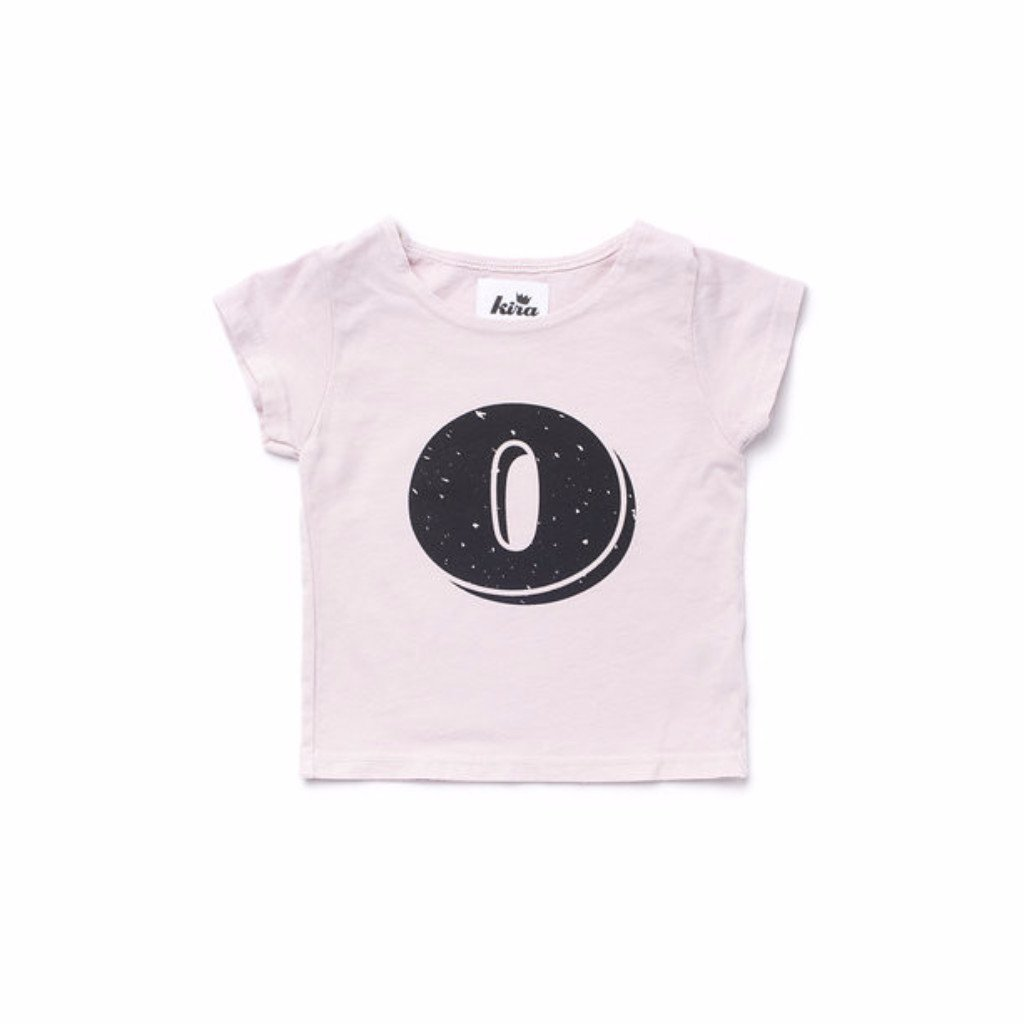 Alphabet T-shirt: O, Light Pink