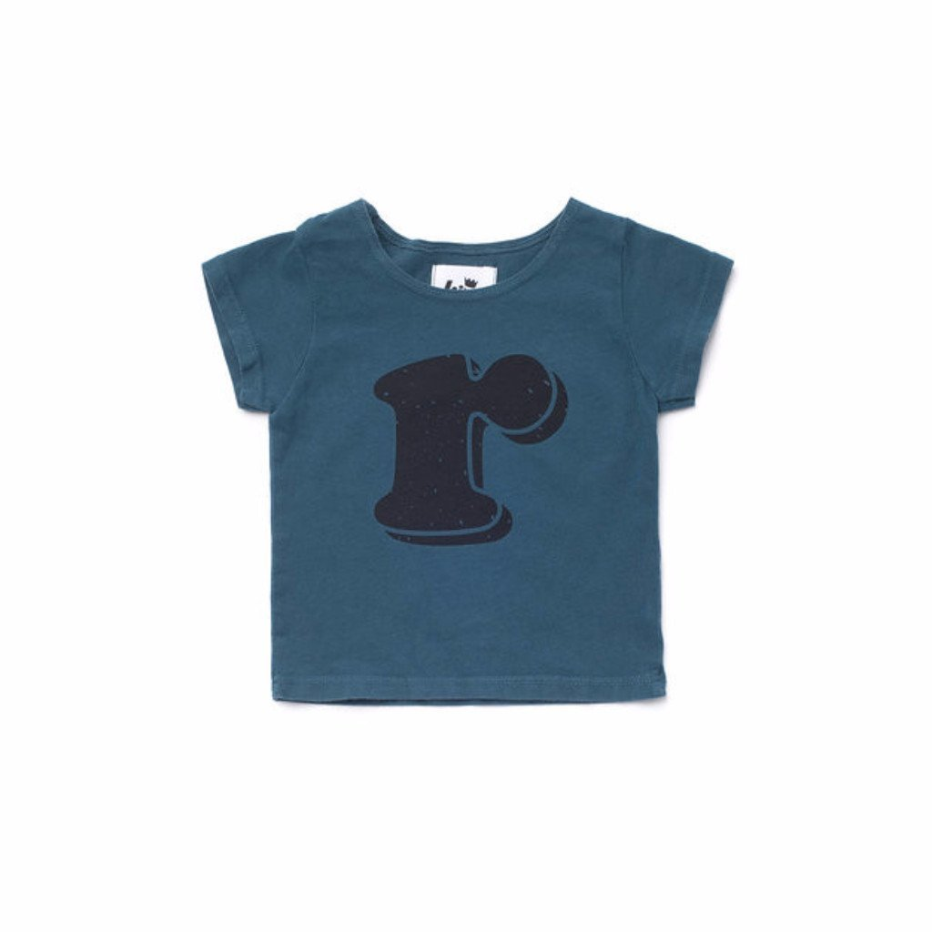 Alphabet T-shirt: R, Dark Teal