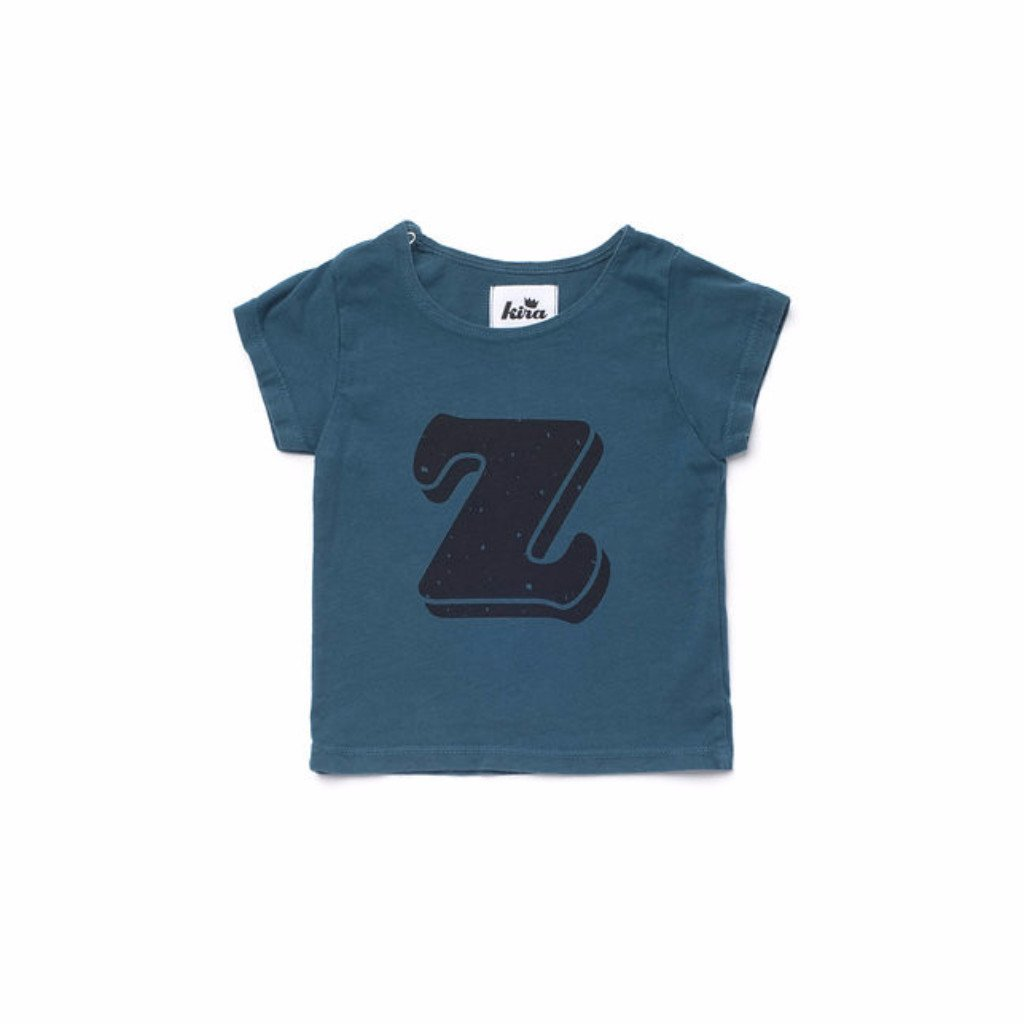 Alphabet T-shirt: Z, Dark Teal
