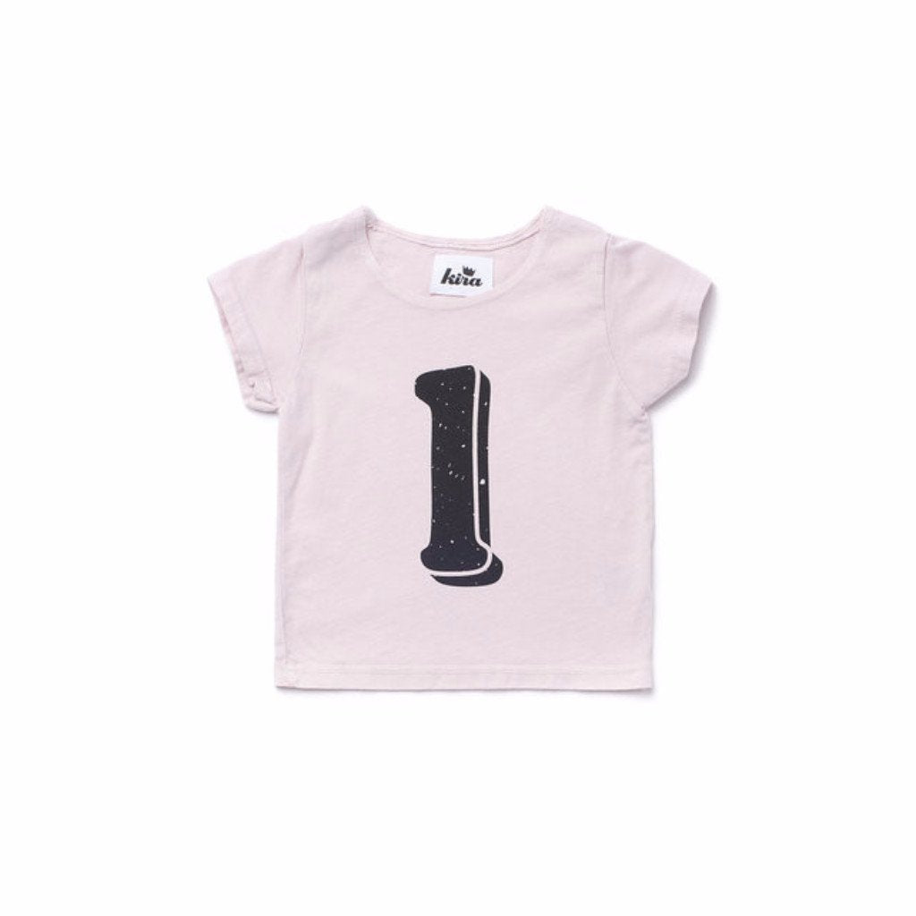 Alphabet T-shirt: L, Light Pink