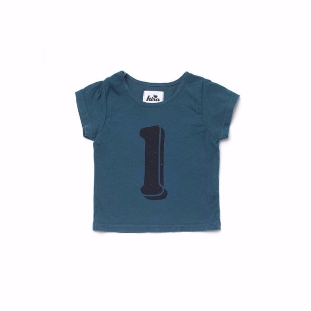 Alphabet T-shirt: L, Dark Teal