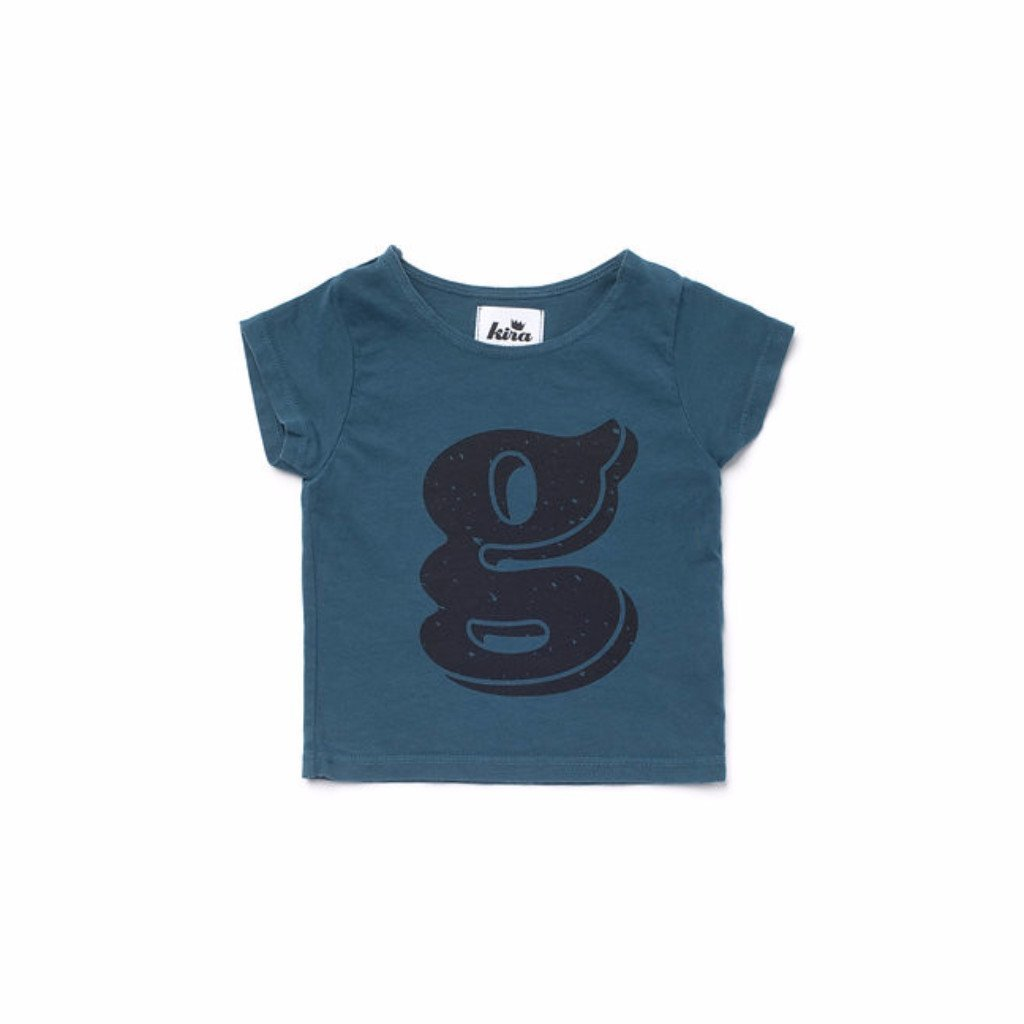 Alphabet T-shirt: G, Dark Teal