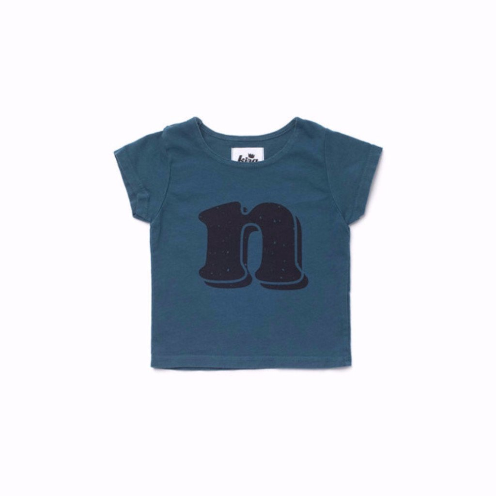 Alphabet T-shirt: N, Dark Teal