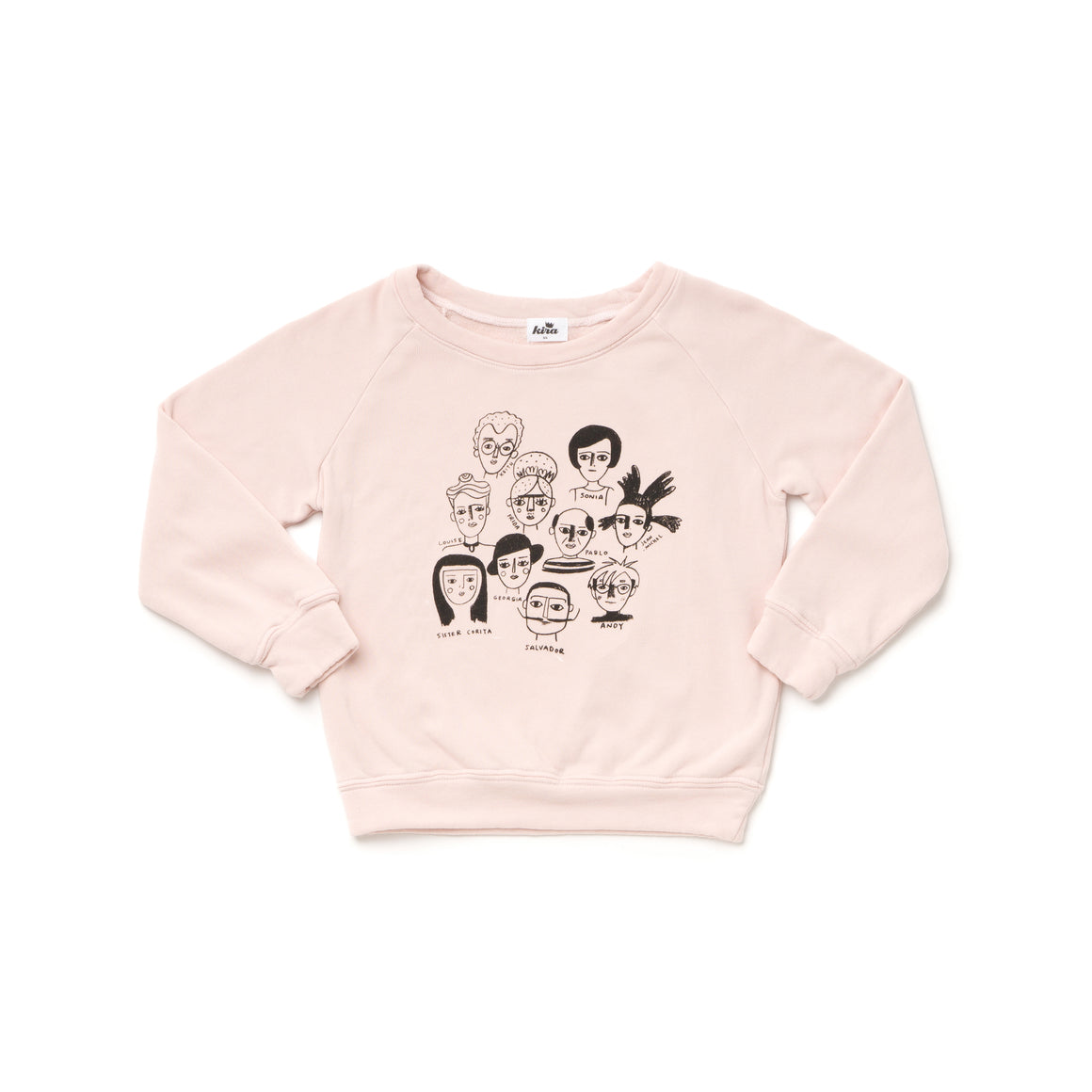 Artists in History Graphic Raglan Sweatshirt, Powder Pink